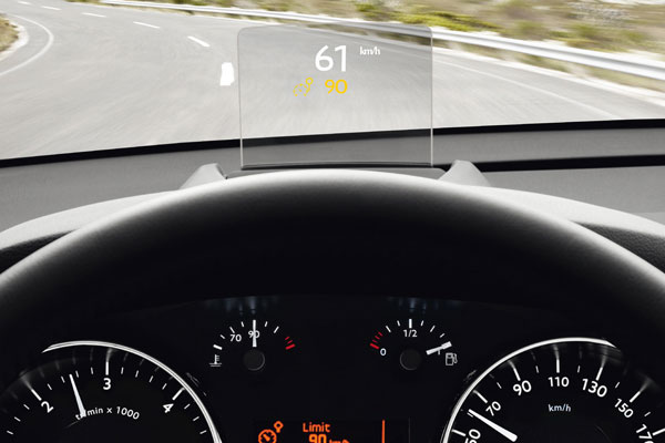 Peugeot 5008 head up display bij Auto Ridderhof