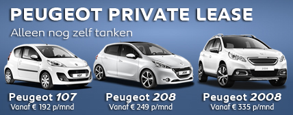 Peugeot Private lease bij Auto Ridderhof BV